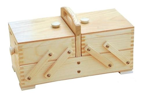 sewing box pine wood light, robust